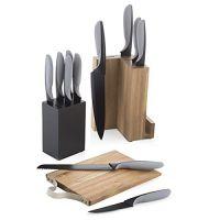 Ceppo componibile con tagliere e 11 coltelli