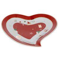 vassoietto natalizio cuore rosso alleluia