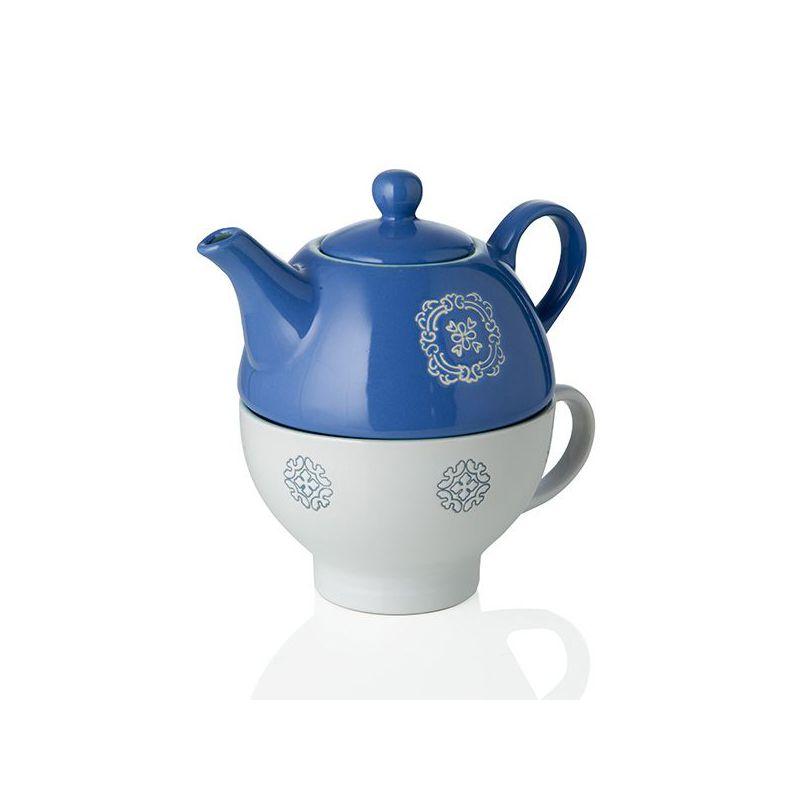 Bomboniera set teiera con tazza in porcellana panarea