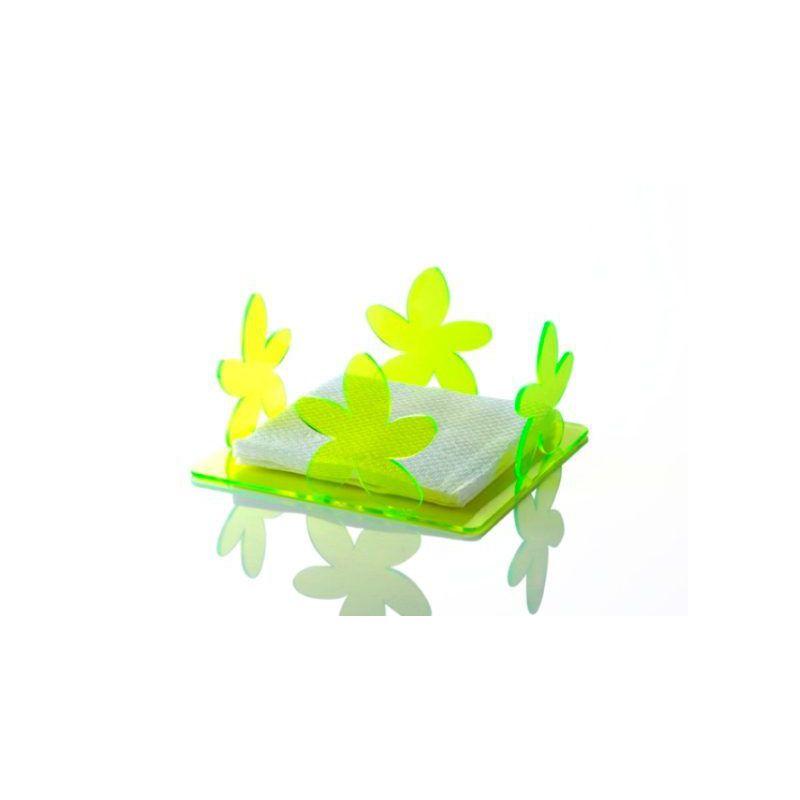portatovaglioli in plexiglas verde