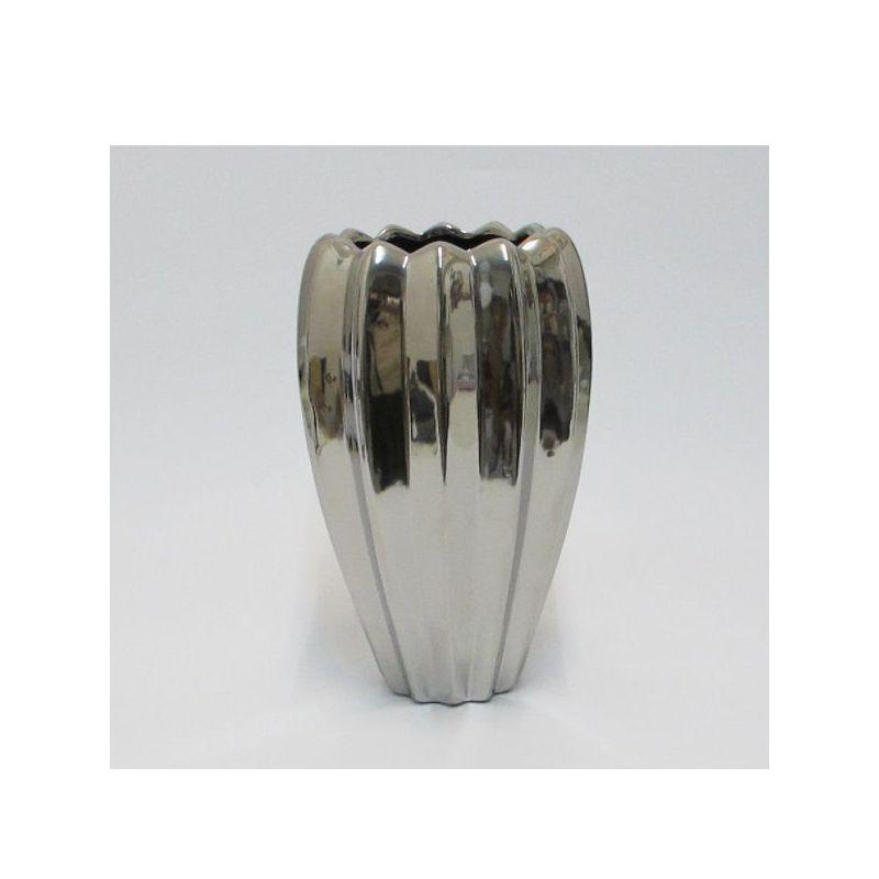 Brandani Lampada Da Terra.Vaso In Ceramica Argento Brandani Domustore Luxury Store