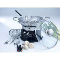 set 13pezzi wok fonduta marcopolo