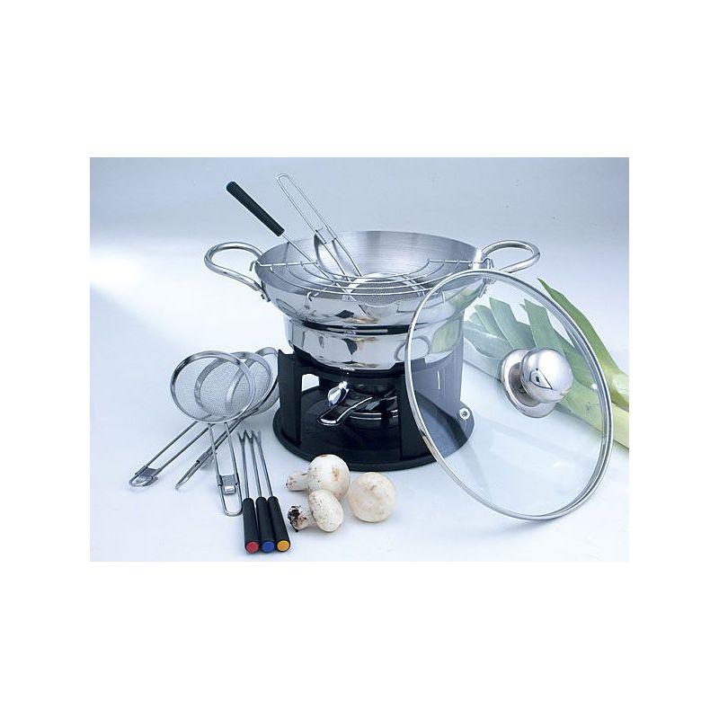 set 13 pezzi wok fonduta marcopolo