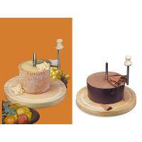 taglia formaggio / cioccolato inox con tagliere in legno