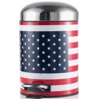 portarifiuti bandiera americana 5l acciaio inox