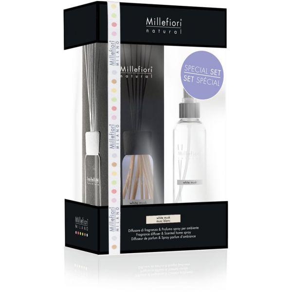 set diffusore 100 ml & deodorante spray per ambienti 150ml white musk
