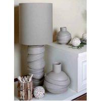 lampada in porcellana beige 87cm chiffon