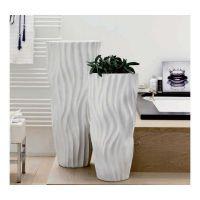 vaso in porcellana 68cm Wave