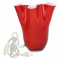 lampada in vetro 39cm rossa Bizarre