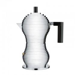 Caffettiera 3 tazze manico nero pulcina