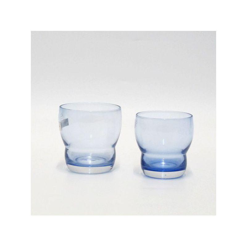 servizio 12 bicchieri azzurro