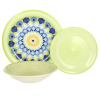 Servizio 18 piatti colorati gypsy