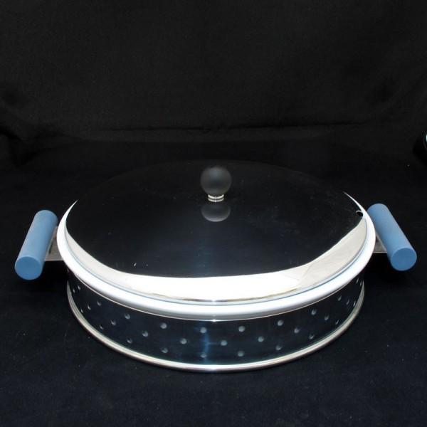 portapirofila in acciaio manici blu