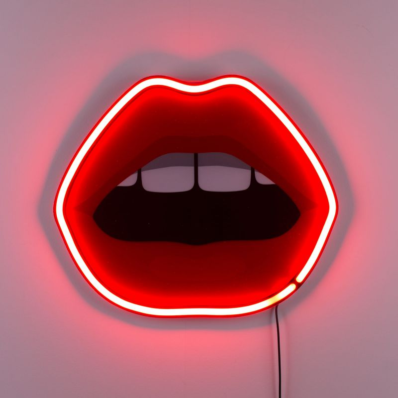 Lampada neon bocca Mouth Lamp Blow