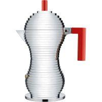 Caffettiera da induzione 6 tazze manico rosso pulcina