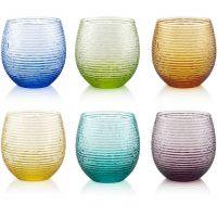 set 6 bicchieri acqua colorati speedy