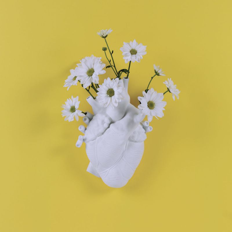 Vaso cuore love in bloom