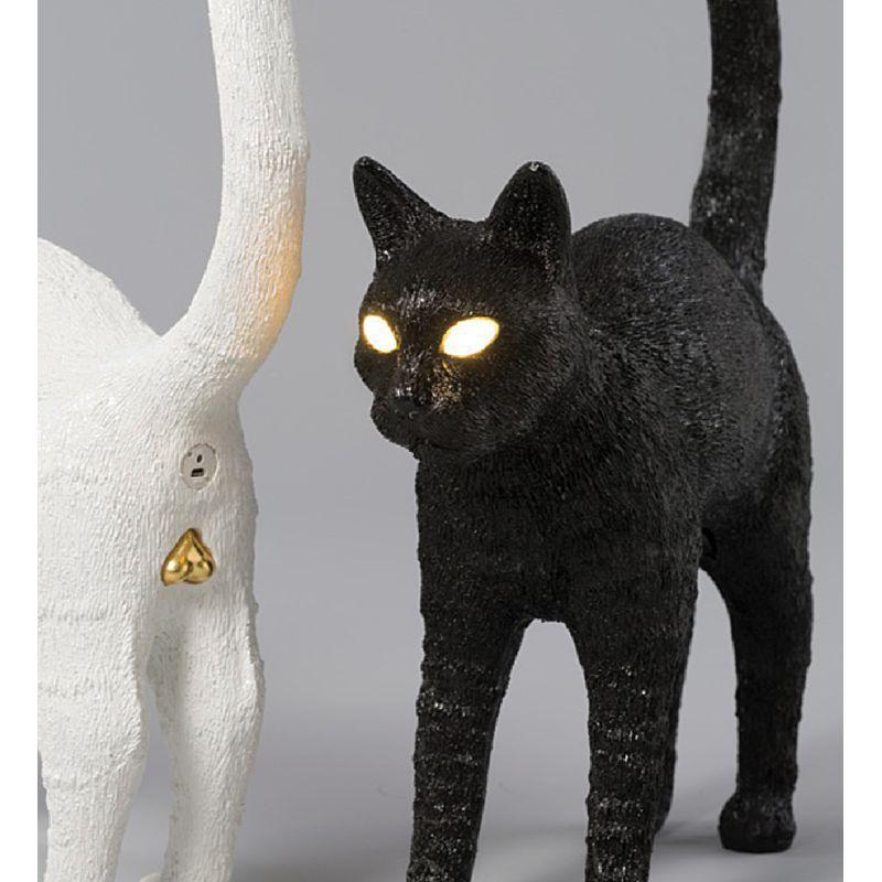 Lampada gatto bianco e nero Jobby the cat lamp