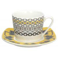 Set 6 tazze caffè con piattino youyellow