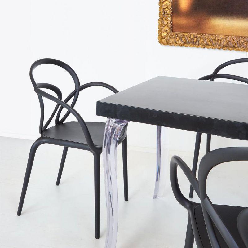 Coppia di sedie nere loop chair qeeboo | DomuStore, Luxury Store