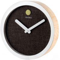Orologio in legno e tela antracite