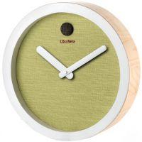 Orologio in legno e tessuto verde