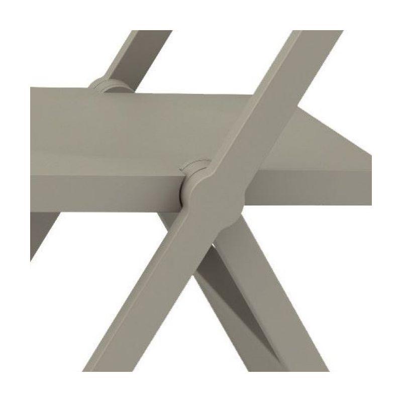 sedia grigia moderna pieghevole Piana