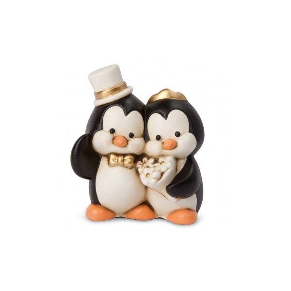 Pinguino Con Corona Egan Bomboniera Laurea In Ceramica cc70e14cee72