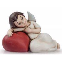 angelo del cuore disteso rosso