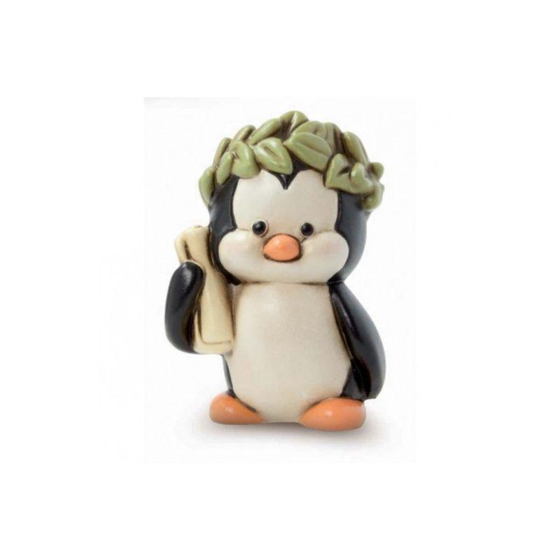 Bomboniera pinguino laurea con corona