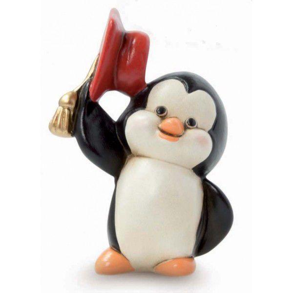 Bomboniera pinguino laurea con tocco