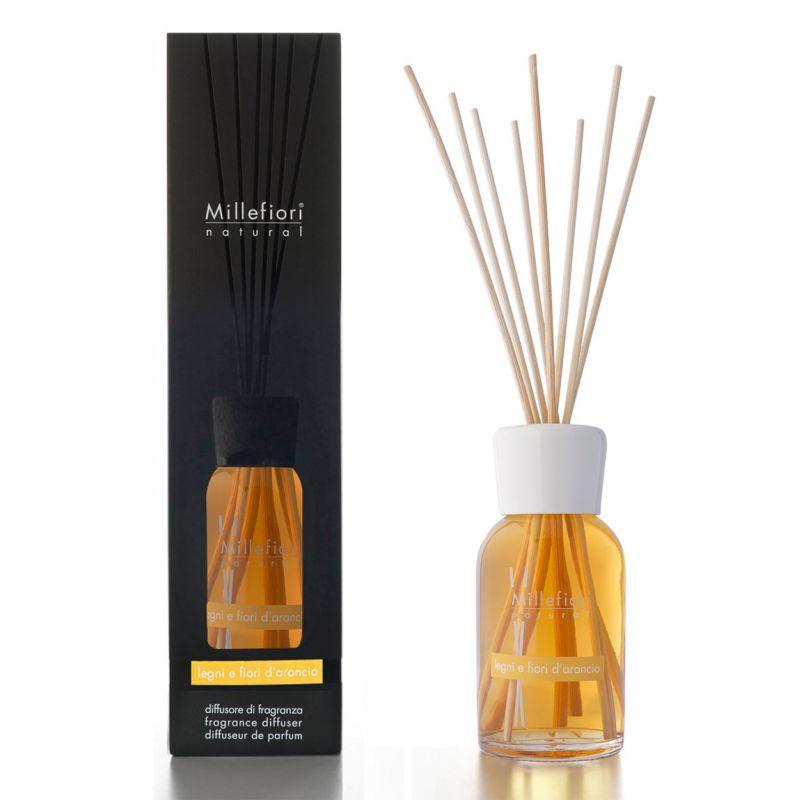 diffusore a bastoncini legni e fiori d'arancio natural 500ml
