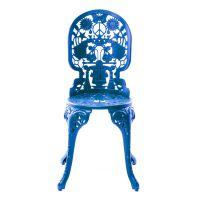 Sedia alluminio blu industry