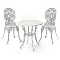 Set bianco tavolino e 2 sedie industry