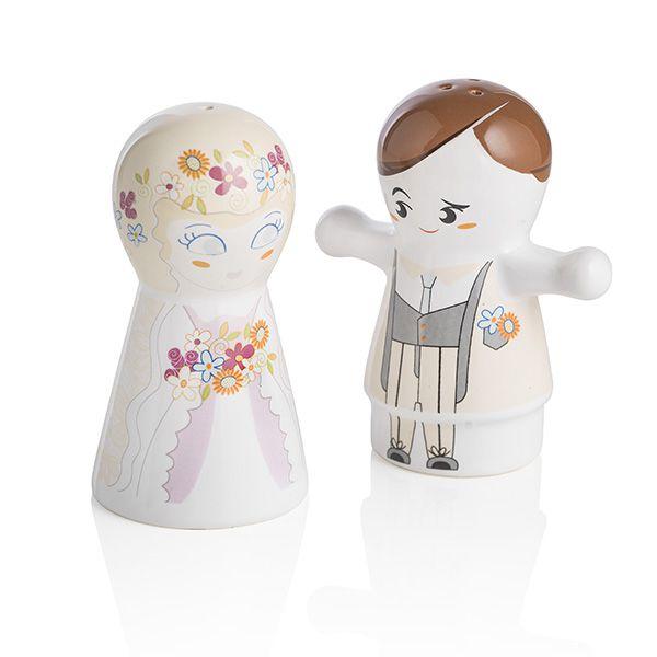 Sale e pepe in ceramica Gli Sposini