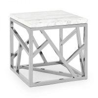 Tavolino Stick Marble Argento