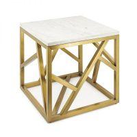 Tavolino Stick Marble Oro