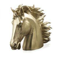 Scultura testa di cavallo oro