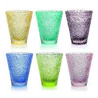 set 6 bicchieri acqua colorati