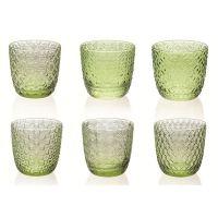 set 6 bicchieri acqua verdi Sixties