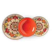 set 3 piatti arancio mediterraneo