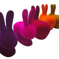 Sedia grande Purple Velvet Rabbit chair