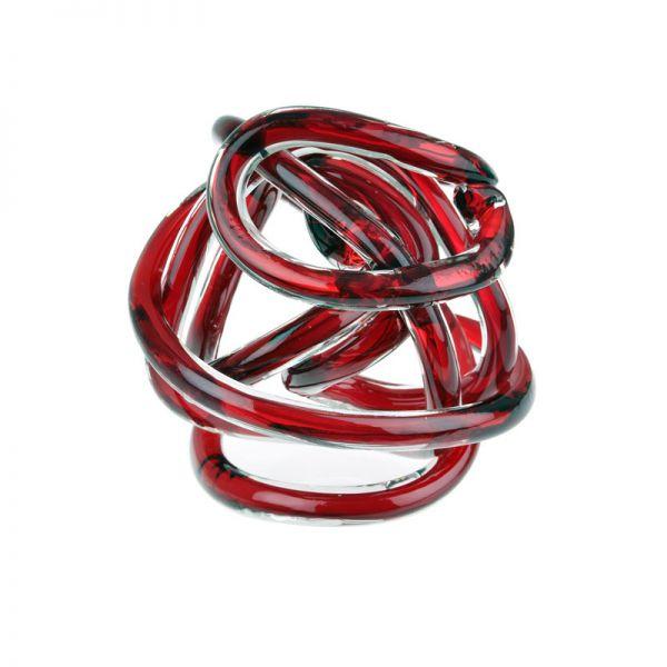 Bomboniera nodo dell'amore diametro rosso 8cm
