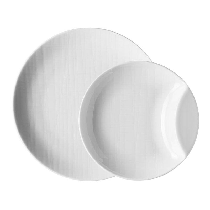 Set aperitivo bianco 7 pezzi mesh