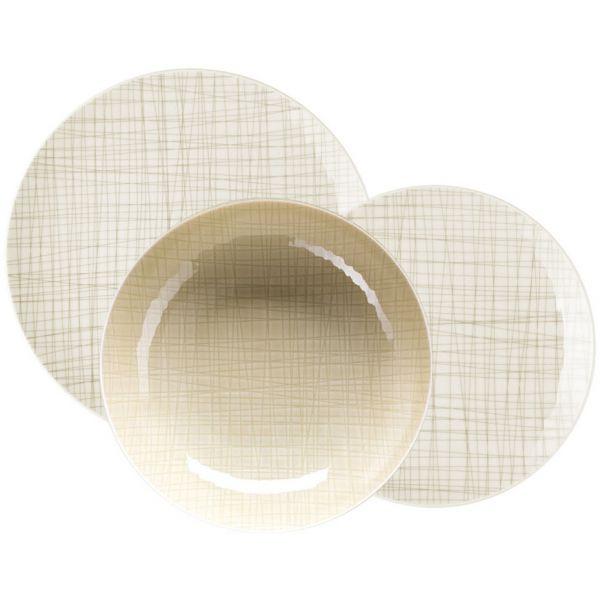 Servizio 18 piatti crema mesh