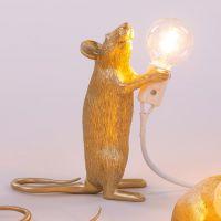 lampada topo gold mouse lamp