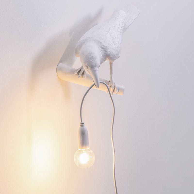 Lampada da muro uccello sinistra bird lamp