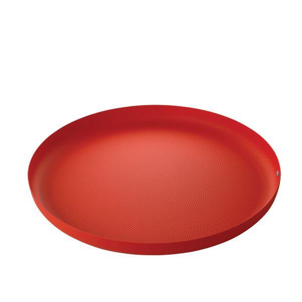 Vassoio rosso extraordinary metal texture