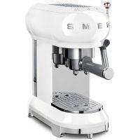 macchina da caffe espresso bianca logo 3D anni 50