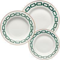 Set 6 piatti catene verdi